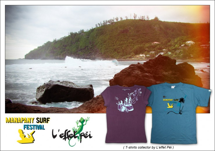 T-shirts Collector Manapany Surf Festival