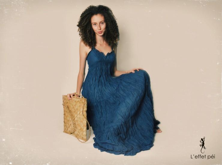 Robe longue Annie - Bertelle - L'effet Péi Réunion