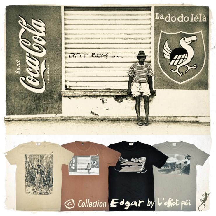 Collection de t-shirts - Photographe Edgar - La Réunion