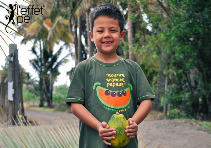 Sourire tranche papaye - T-shirt enfant - L'effet Péi Réunion