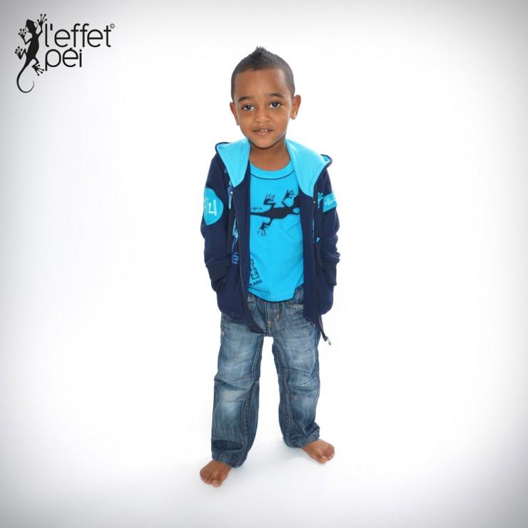 Veste zippée bleu enfant
