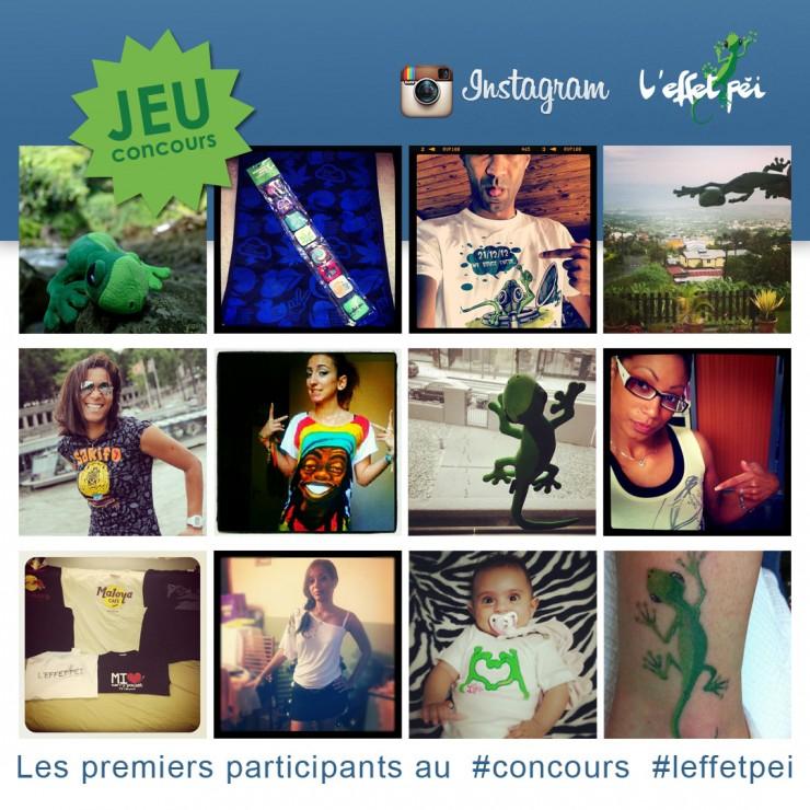 Jeu concours photo L'effet Péi sur Instagram - Les premiers participants