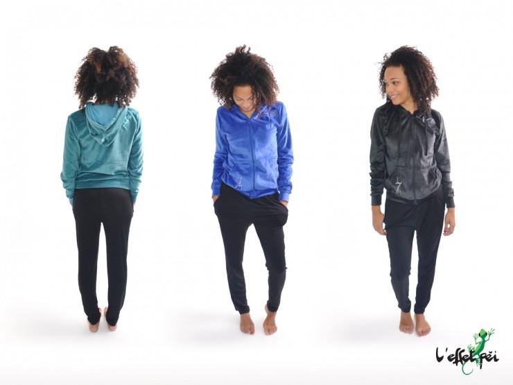 Veste femme à capuche et en velours - L'effet Péi - Réunion
