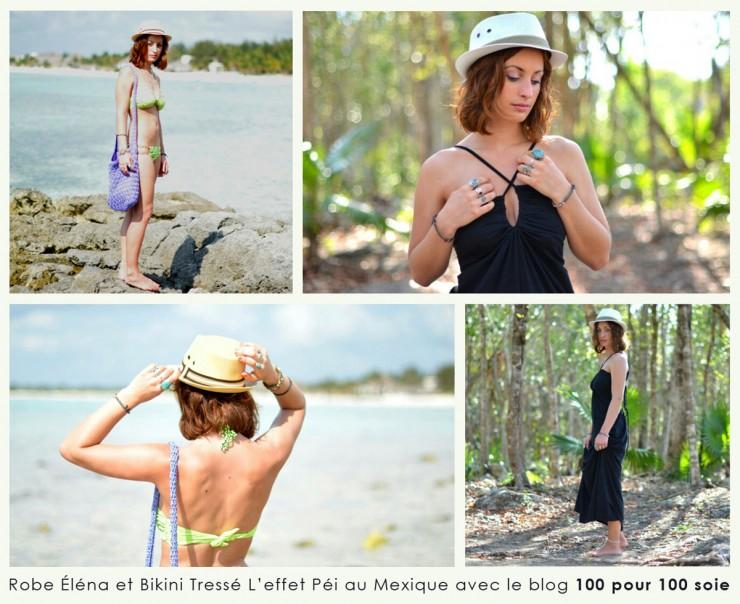 Robe Elena et bikini tressé L'effet Péi au Mexique avec le blog 100 pour 100 soie