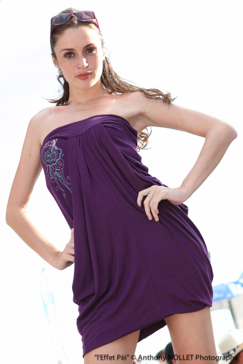 Robe violette Fidji Macaron