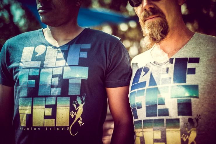 T-shirt Saline les bains - Réunion Island - Col V