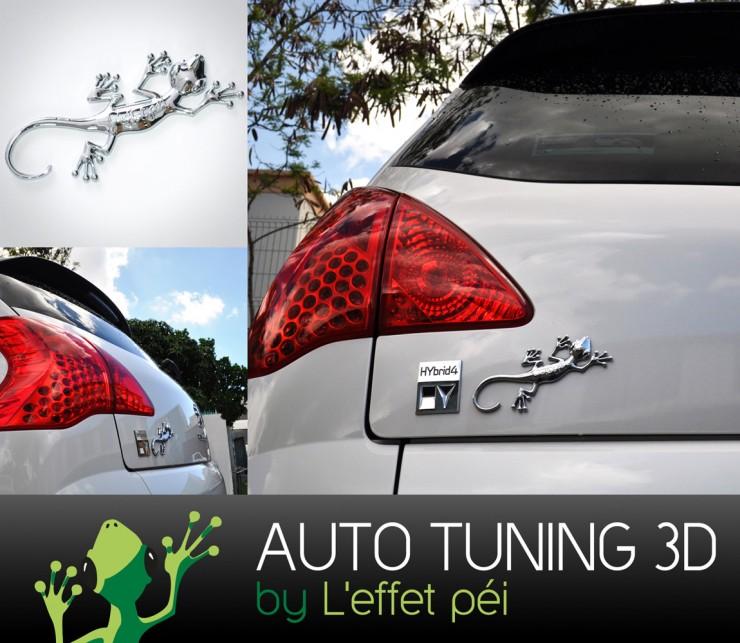 Sticker - Auto Tunning 3D - Margouillat L'effet Péi - Auto-collant