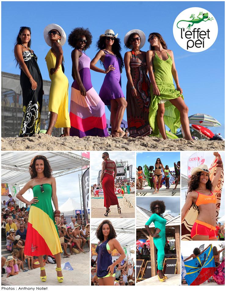 Défilé L'effet Péi - Eco Beach Tennis 2014 - Plage des Brisants - Île de la Réunion