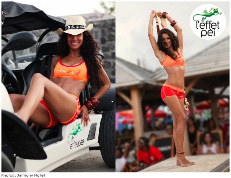 Maillot de bain Ophélie - Défilé L'effet Péi - Eco Beach Tennis 2014