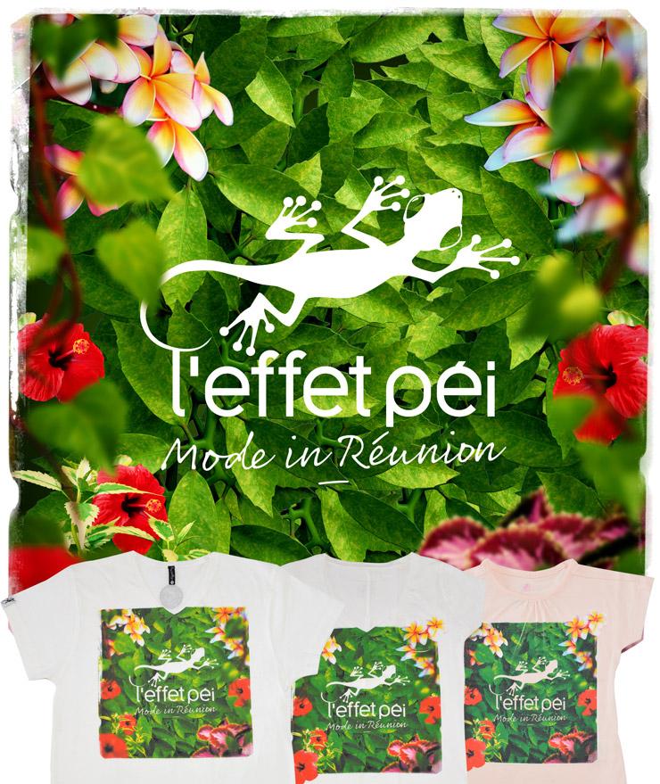 T-shirt Flora - L'effet Péi - Mode in Réunion - Tropical Island - flowers