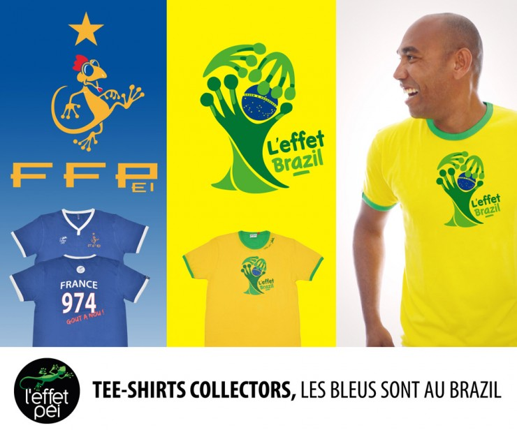 T-shirts Collector Mondial 2014 Football
