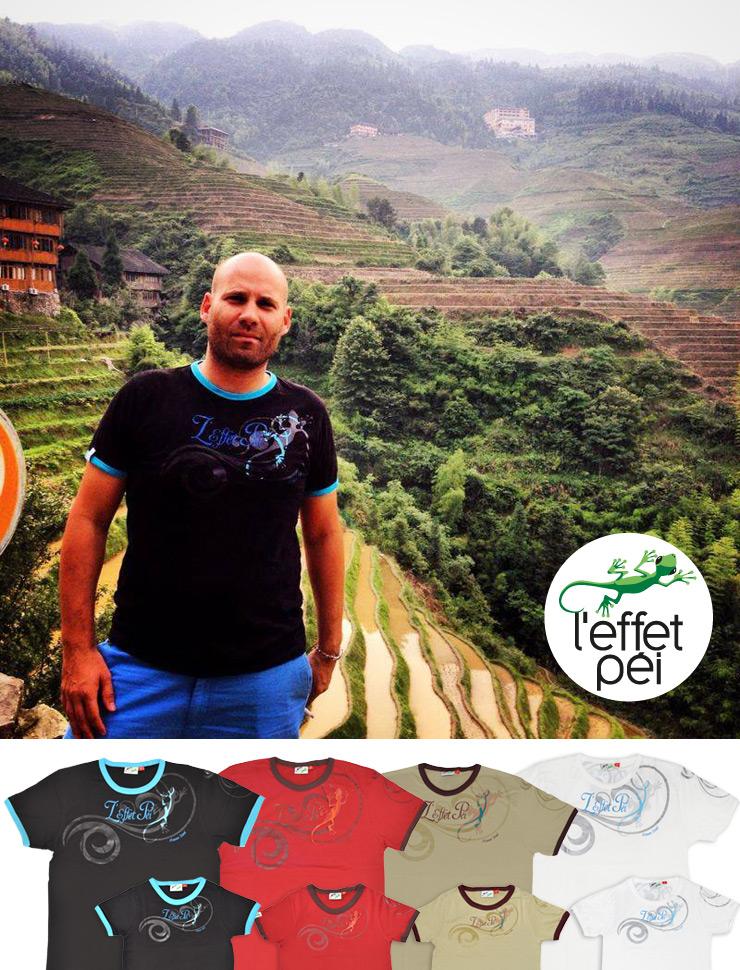 Nicolas et son t-shirt ID Freez L'effet Péi en Chine