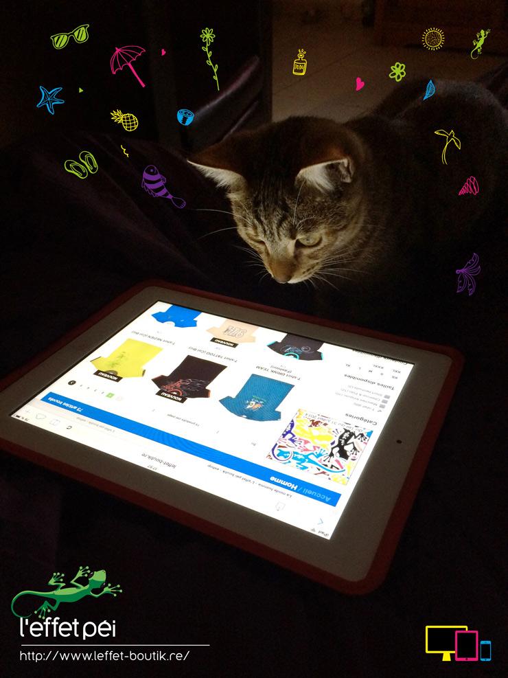 Yoko le chat sur iPad