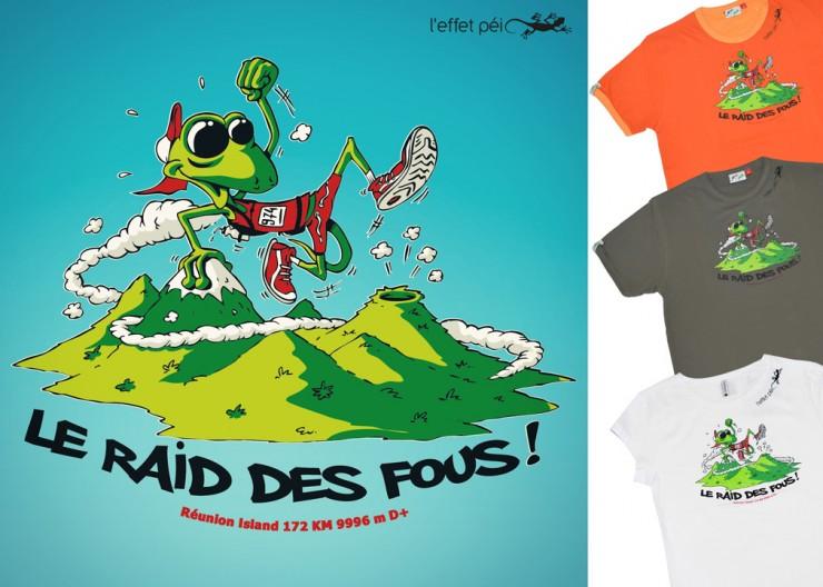 T-shirts Le Raid des Fous - Spécial Grand Raid 2014