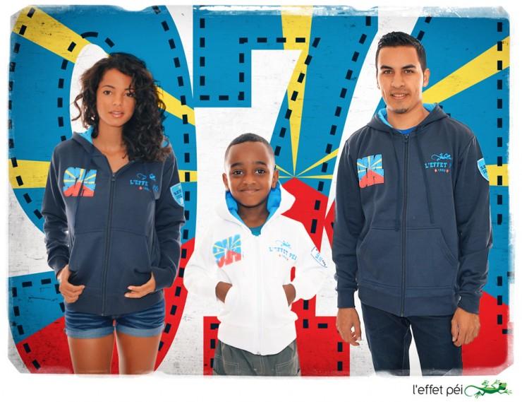 Vestes 974 Flag - Famille - Homme Femme Enfant - Drapeau de la Réunion