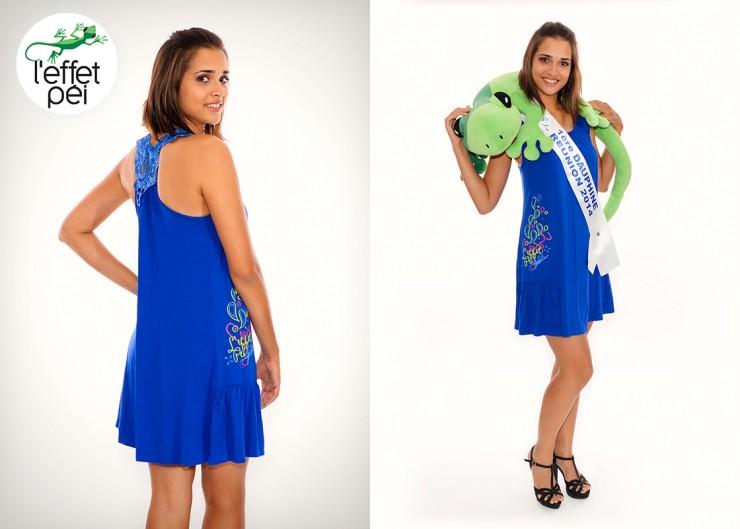 Anne-Gaëlle LATERRIERE - 1ère Dauphine de Miss Réunion 2014 nous présente la robe Suzon L'effet Péi