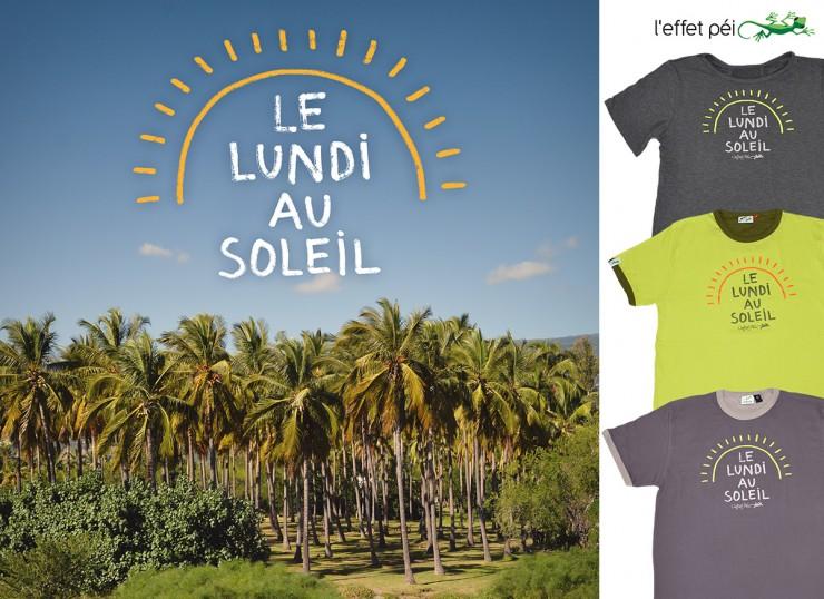 Tee-shirt le lundi au soleil - cocotiers île de la Réunion