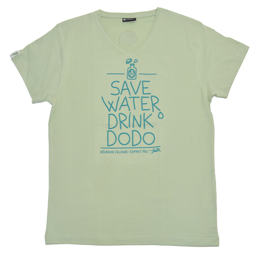 T-shirt Vert Save Water Drink Dodo