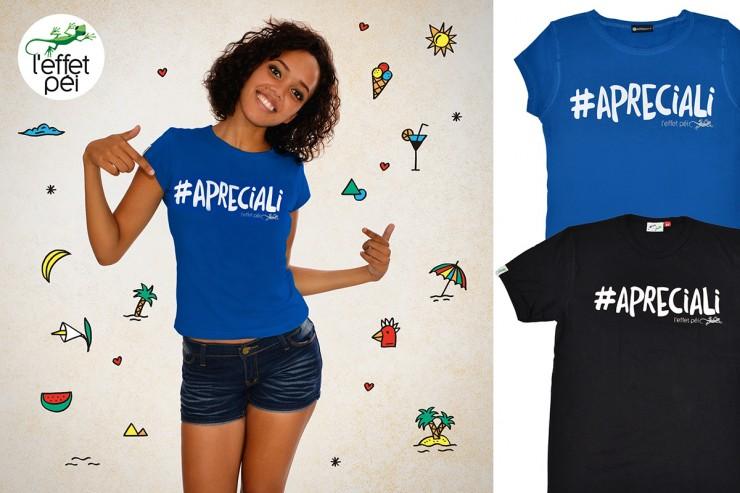 T-shirt #Apreciali - La Réunion