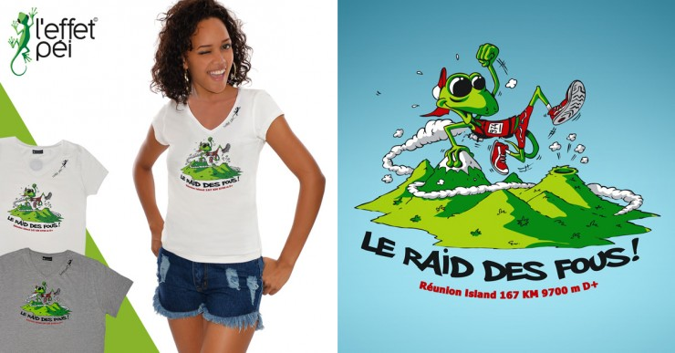 T-shirt Grand Raid Collector - Raid des fous by Jace