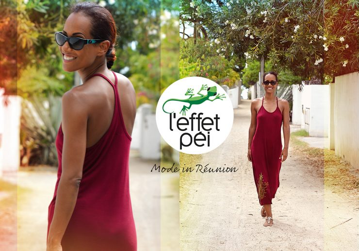 Robe longue rouge Guetapan - La Saline les Bains - île de la Réunion
