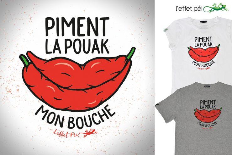 T-shirts femme et homme - Piment la pouak mon bouche