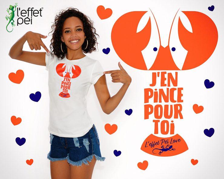 T-shirt - J'en pince pour toi - Saint-Valentin