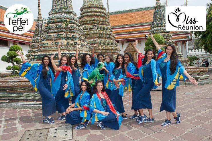Les candidates à Miss Réunion 2017 en Thaïlande