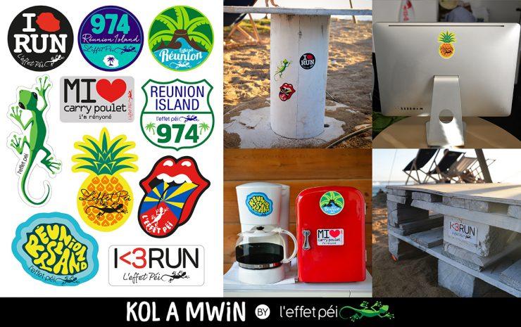 Stickers Kol a mwin by L'effet Péi - Réunion Island