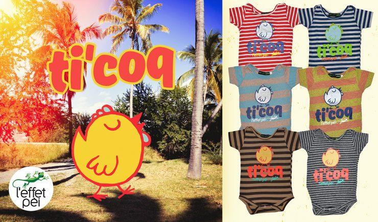 Babygro Ti Coq - île de la Réunion