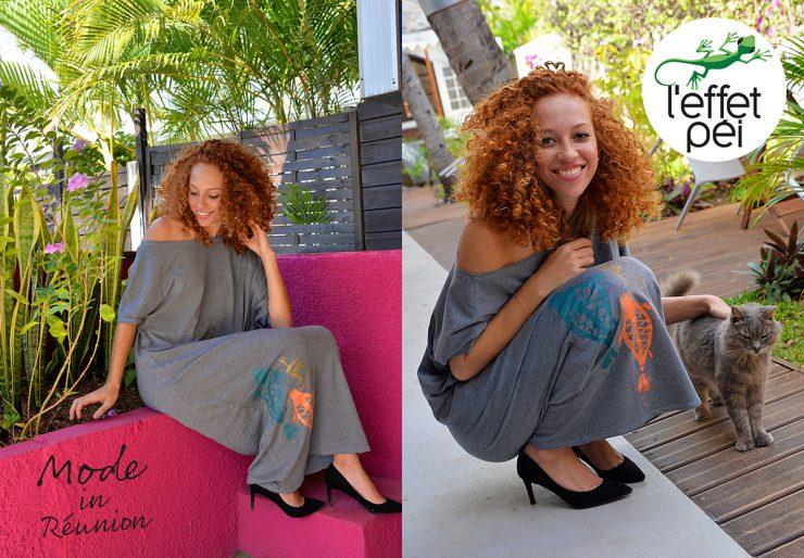 Robe longue Xacha Carpe - île de la Réunion