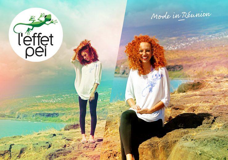île de la Réunion - Cap La Houssaye - T-shirt femme Tia - pantalon legging